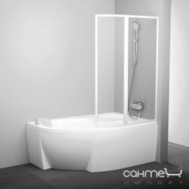 Шторка для ванны Ravak VSK2-150 R белый/rain (полистирол) 76P8010041 правая