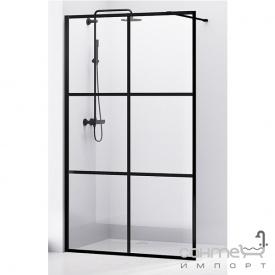 Душевая стенка Volle Malla Negra 18-08-110black set профиль матовый черный/прозрачное стекло