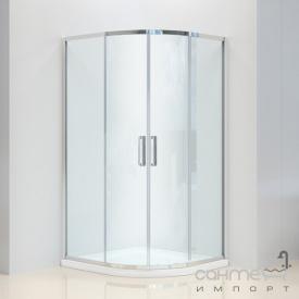Душевая кабина Dusel A-511 100x100 профиль хром стекло шиншилла