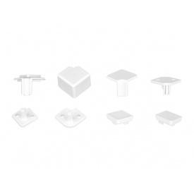 Комплект уголков и заглушек белый матовый к плинтусу VOLPATO мм 4200 15х15 мм