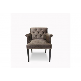 Кресло Sovalle Ришелье велюр ножки венге Серый (0453-03)