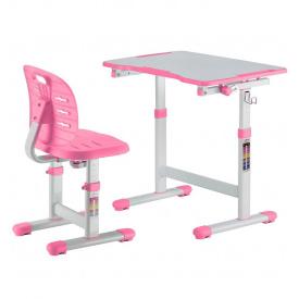 Комплект парта + стілець трансформери Omino Pink