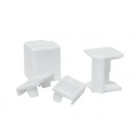 Комплект к плинтусу VOLPATO белый 2 заглушки 1внешн.+1внутр. угол мм 4200 16х26мм