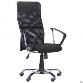 Кресло Ultra Хром сиденье А-1/спинка Сетка черная, вставка Скаден черный