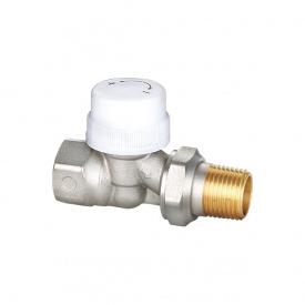 Кран радиаторный под термоголовку прямой HLV PN10 НВ 1/2'
