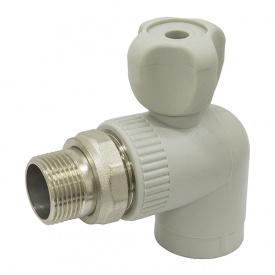 Кран радиаторный угловой PPR ASG PN20 НР 20 мм 1/2' 1415411179