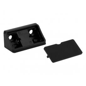 Куточок меблевий подвійний пластиковий GIFF чорний