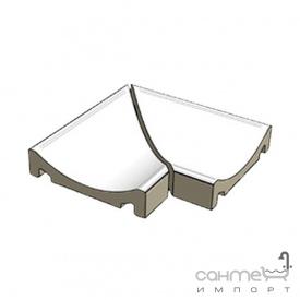 Плитка (водовід кутовий з двох частин) Rako Pool хPC58023 гладка матова