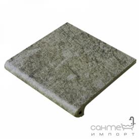 Клинкерная плитка ступень 33x33 Gres de Aragon Jasper Peldano Ref. 24-33 Gris серая