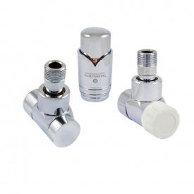 Комплект термостатический угловой Schlosser LUX для медной трубы GZ 1/2 х 15х1 хром (603700004)