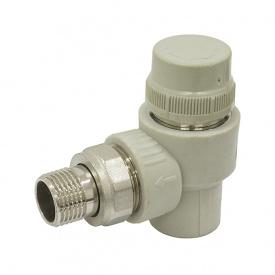 Кран радиаторный термостатический угловой PPR ASG 20 мм 1/2' 1417599575