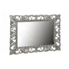 Зеркало Пиония 120х100 серебро