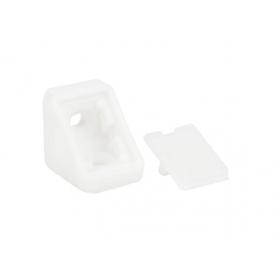 Куточок меблевий одинарний пластиковий GIFF білий