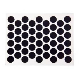 Заглушка конфирмата самоклеющаяся Weiss d=14 черный глянец 50 шт 1960
