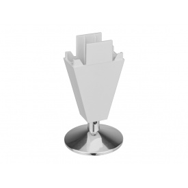 Опора регулируемая пластик Volpato Stili мм 90 алюминий