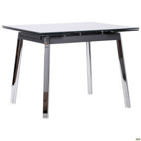 Стол Виктория 1000(1550)*800*770 База хром/Стекло антрацит