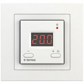 Терморегулятор для теплого пола terneo st unic, белый