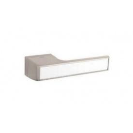 Дверна ручка TUPAI MELODY Vario 3089RT Матовий нікель, вставка BM біла матова