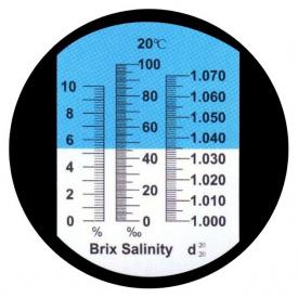 Рефрактометр HT213ATC для визначення концентрації солі та цукру