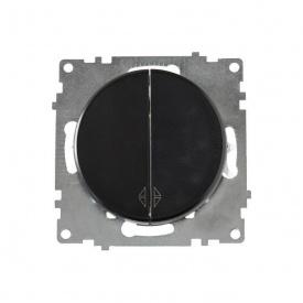 Переключатель двойной, цвет чёрный (серия Florence) арт.1Е31601303