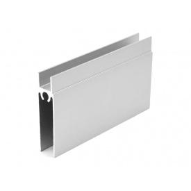 Горизонтальный профиль нижний Slider усиленный серебро мм 5000