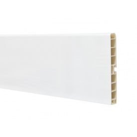 Цокольна Планка Volpato мм 4000 мм 120 білий глянець