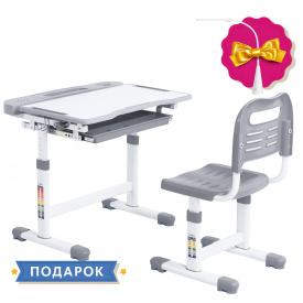 Ергономічний комплект парта і стілець-трансформери Vanda Grey