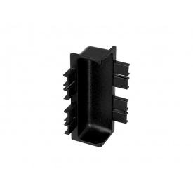 Угол внутренний 90* к C-образному профилю Gola Volpato Clap`n`FIT черный матовый