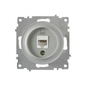 Розетка компьютерная 1xRJ45 кат.5e, цвет серый (серия Florence) арт.1Е20701302