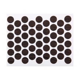 Заглушка конфирмата самоклеющаяся Weiss d=14 бук шоколадный 50 шт 7104