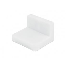 Куточок меблевий монтажний з пластиковою заглушкою GIFF білий
