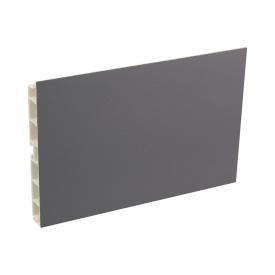 Планка цокольная Volpato мм 4000 мм 100 оникс серый