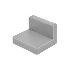 Куточок меблевий монтажний з пластиковою заглушкою GIFF сірий
