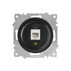 Розетка телефонная 1xRJ11, цвет чёрный (серия Florence) арт.1Е20601303