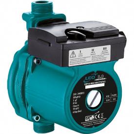 насос для повыш давл 123Вт Hmax 9м Qmax 25л/мин O 160мм + гайки O Leo 3,0