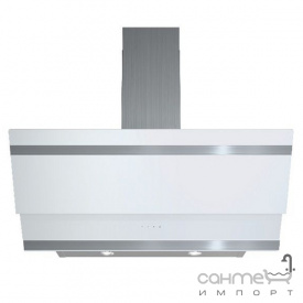 Пристінна кухонна витяжка Fabiano Premium Prisma 80 White біле скло