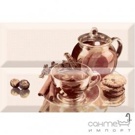 Плитка керамическая декор ABSOLUT KERAMIKA Serie Tea 01 Composition
