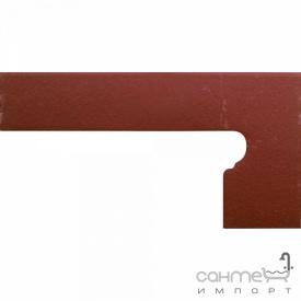 Клинкерная плитка боковина правая 20x39 Gres de Aragon Cotto Zanquin right Rojo красная