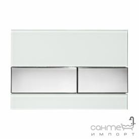 Панель смыва стеклянная (зеленое стекло) TECE TECEsquare 9.240.805 клавиши хром глянцевый