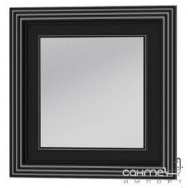 Зеркало Botticelli Treviso ТM -80 черное, патина серебро