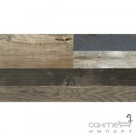 Плитка 19,5х119,7 Colorker Revolt Noce Mix коричневая под дерево
