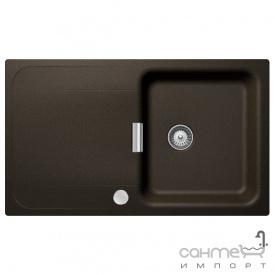 Гранитная кухонная мойка Schock Cristadur Wembley D100 оборотная 87 bronze