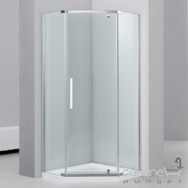 Душевая кабина Dusel А1104 90x90x1900 хром/прозрачное стекло