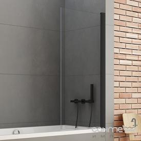 Шторка для ванни New Trendy New Soleo Black P-0039 чорна / прозоре скло