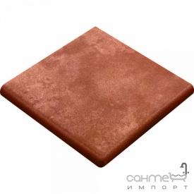 Клинкерная плитка ступень угловая 33x33 Gres de Aragon Italia Esquina Parma коричневая
