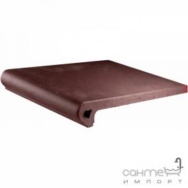 Клинкерная плитка ступень 33x33 Gres de Aragon Cotto Peldano Ref. 24-33 Marron коричневая