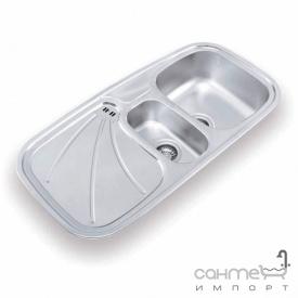 Кухонна мийка Ukinoх Wavilon 1000.500 15 GW 8K P н/с полірована крило праворуч