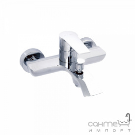 Настенный смеситель для ванны, с душевым гарнитуром Clever Seleccion Agora 98682 Хром