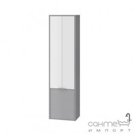 Пенал для ванной комнаты подвесной Ювента Sofia 170 c корзиной для белья серый