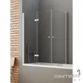 Шторка для ванни New Trendy New Soleo 90x70 P-0025 / P-0024 прозоре скло